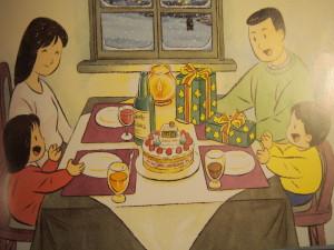 【バスでおでかけ】 クリスマスの絵がにぎやかなバスの絵本