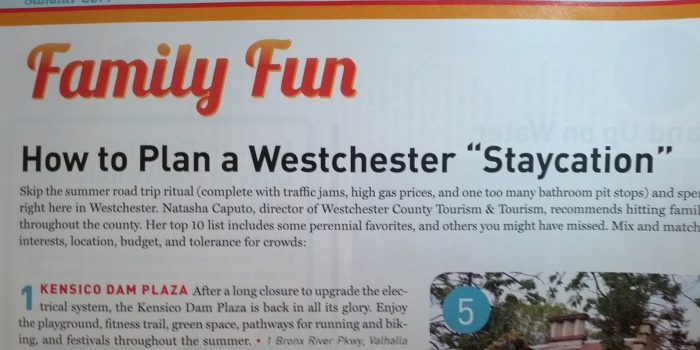 【Westchester Magazine】westchester staycation!